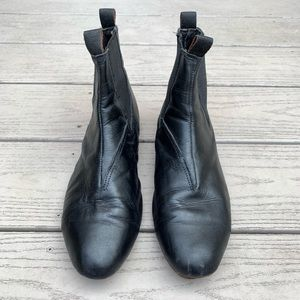 Shoes - Leather Chelsea Booties